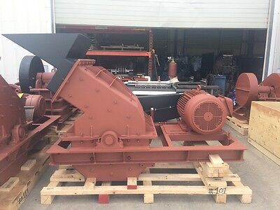 "Glass Recycling Hammer Mill 30"" x 24"" 75hp, 3 phase, 5+ Tons/Hour"