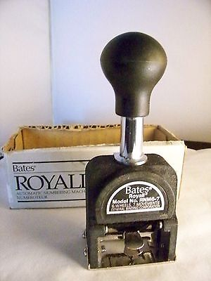 Numerical stamper self-inking Royall automatic numbering machine