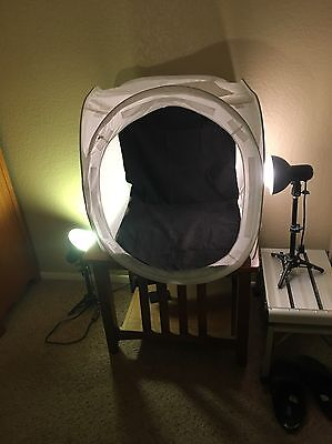 Photo Studio Box with Lamps (Bulbs not Included)