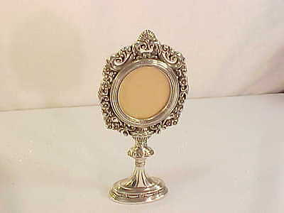 Wonderful Silver Brighton Vintage Scroll Pedistal Picture Frame