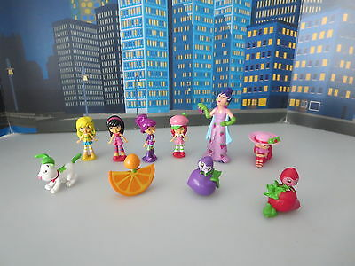 Vtg Srawberry Shortcake Sour Grapes Mini Dolls And Others Hasbro