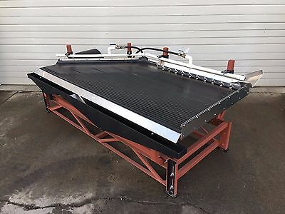 Shaker Table 4' x 8', Fine Recovery of Gold, Silver, Sulfides, etc., 1-1.25 TPH