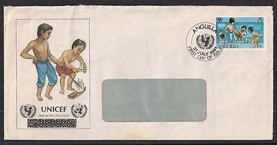 ANGUILLA 1981 10c stamp on Envelope used FDI pmk ( 827 )