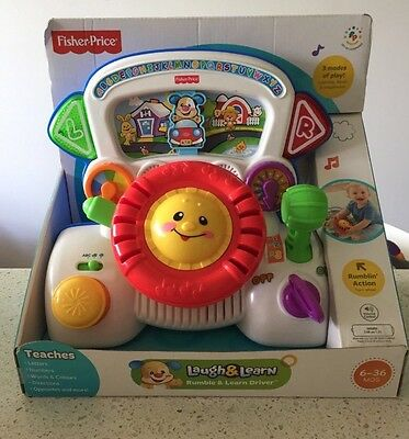 Fisher Price Rumble & Learn Driver Toy