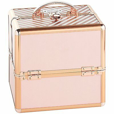 Beautify Professional Small Lockable Vanity Make Up Beauty Storage Case - Blush
