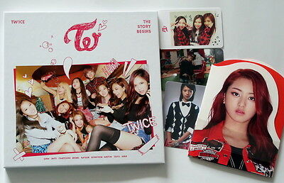 TWICE autographed 2015 mini1st album THE STORY BEGINS CD new korean 11.2015