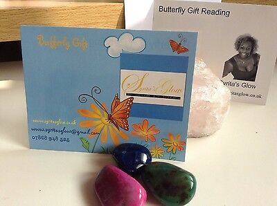 Syrita's Glow Butterfly Gift Voucher In Gift Greeting Card