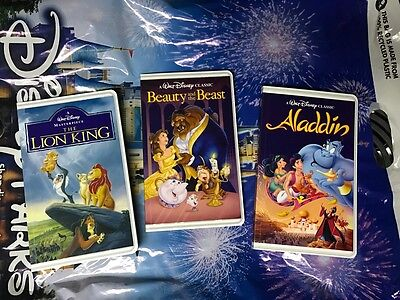 Beauty And The Beast Walt Disney Classics VHS Illusion Notebook YOU GET ALL 3