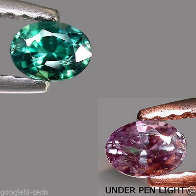 0.33Cts CERTIFIED Gem - RICH Natural Green 2 Purple COLOR CHANGE ALEXANDRITE G05