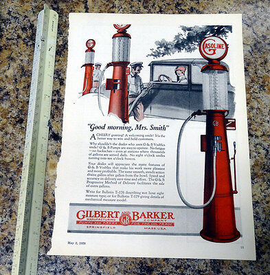 Gilbarco T176 G&B Visible Gas Pump Color Magazine Ad - 75 - FREE SHIPPING