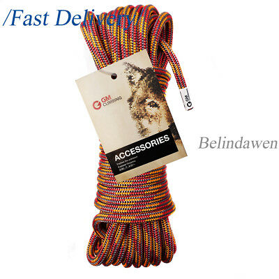 50ft Double Braid Accessory Cord Rope 10mm 24kN For Climbing Arborist Caving