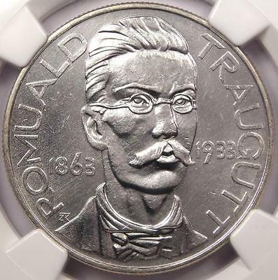 1933 Poland 10 Zlotych Coin 10Z - NGC Uncirculated (UNC MS) - Romuald Traugutt