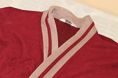 VINTAGE RARE CHRISTIAN DIOR Red Smoking Jacket Robe Heavy Weight One Size