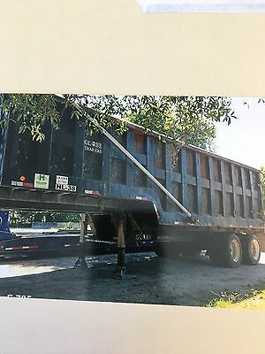 2002 globe drop deck dump trailer 47yard capacity