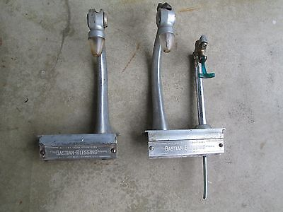 2 antique The Bastain-Blessings Co. goose neck soda fountain dispensers Chicago