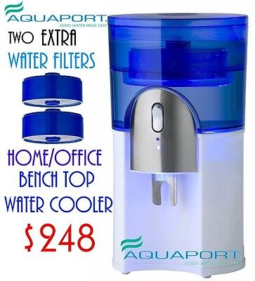 New Aquaport AQP 24CS  Filtered 7 ltr Water Cooler  - White - Extra 2 Filters