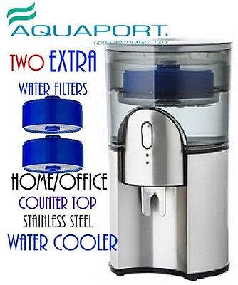 New Aquaport AQP 24SS  Filtered Water Cooler  - Stainless Steel Extra 2 Filters