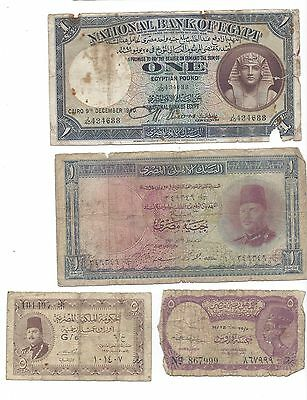 Egypt 4 notes all circulated
