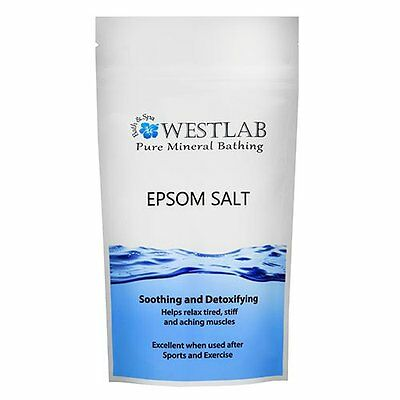 Westlab Epsom Salt 2kg Easy Way to Increase Body's Levels Magnesium and Sulphate