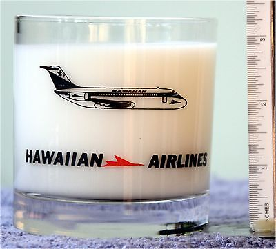 HAWAIIAN AIRLINES Old Fashion Whiskey ROCKS GLASS TUMBLER