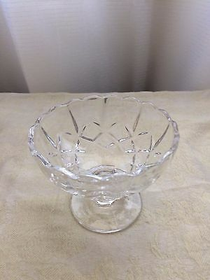 Small Pedestal Compote Crystal Bowl