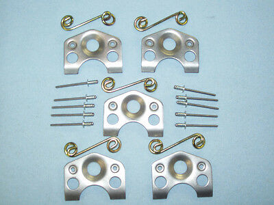"""25 Dzus Plates 16 Gauge .062"""", And 25 Springs,and 50 Pop Rivets  ( Made In Usa)"""