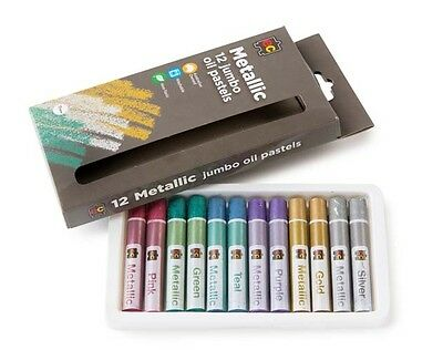 Jumbo Oil Pastels Metallic Pkt of 12 Non Toxic Washable Superior Quality Artist