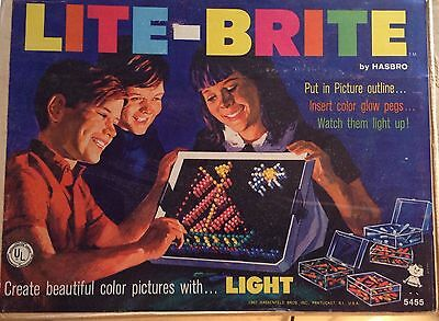 Vintage Hasbro  LITE - BRITE toy Really Works Full Color Art