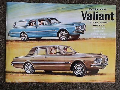1965 Chrysler Valiant Ap6 Sales Brochure 100% Guarantee