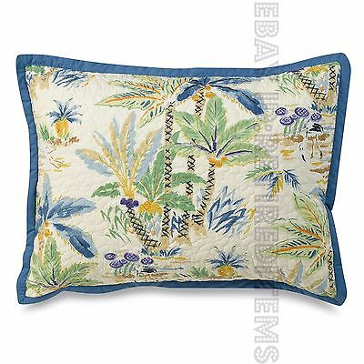 New Coastal Life Lagoon TWO-SIDED STANDARD PILLOW SHAM beach tropical palm trees