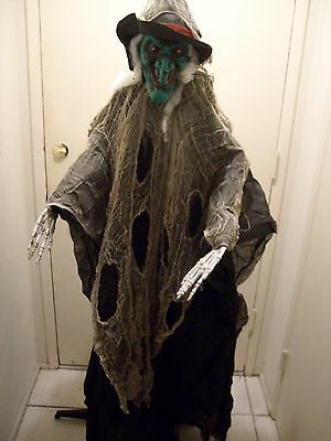 Halloween prop STANDING WICKED WITCH WITH LIGHT UP EYES. New.