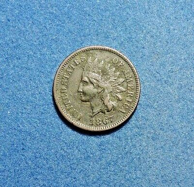 1867 Indian Head cent XF Extra Fine Condition copper 1c