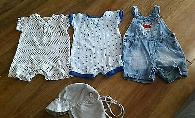 Boys 0 6-12 Months Summer Bulk Onesies Overalls Hat Toshi Marquise
