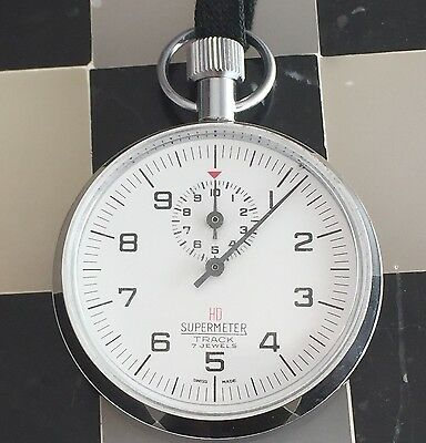 Supermeter Stopwatch Track Mechanical 7 Jewels 411 Stainless Steel 54 mm Case