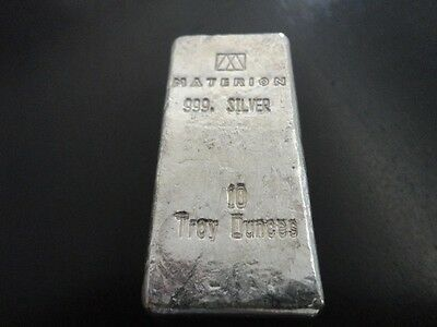 10 oz Materion Silver 'chunky' Bar - (Loaf Style)