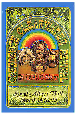 Creedence Clearwater Revival  at Royal Albert Hall UK Concert Poster 1970