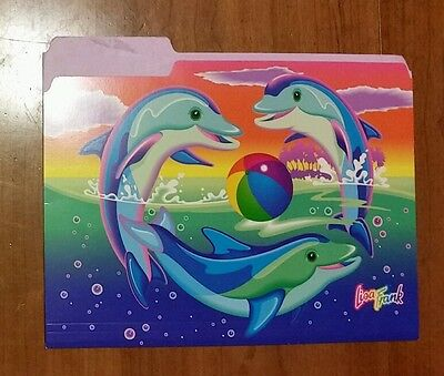 Lisa Frank Dolphins File Folder