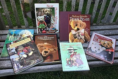 9 Vintage TEDDY BEAR & Antique DOLL Books for Makers & Collectors - 2 Autographs