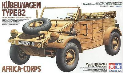 Tamiya 35238 1/35 Scale Model Kit WWII German Type 82 Kübelwagen Africa Corps