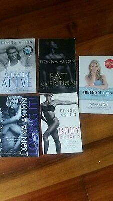 DONNA ASTON ~  HEALTH AND FITNESS (x5) BOOKS