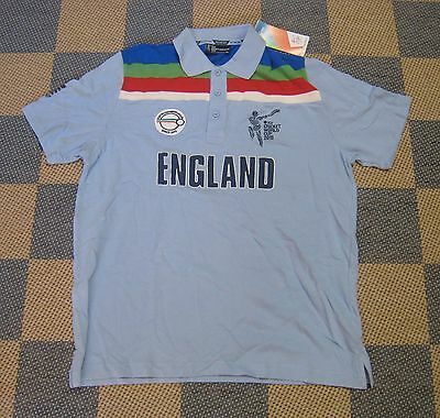 England 2015 Icc Cwc Cricket World Cup Retro Shirt Jersey - Extra Large (Xl)