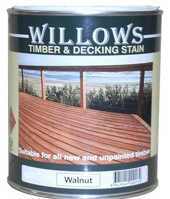 Willows Timber Deck Furniture Window Beams Stain Paint OiL Based 1L Walnut