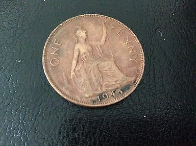 1945 George VI ONE PENNY COIN