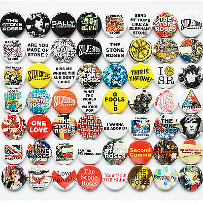 The Stone Roses 1987-1995 Badge Set  / Collection - 56 Quality Pin Button Badges
