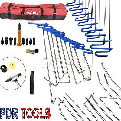 10x Auto Body Dent Removal Pdr Rod Tool Kit- Hail Door Ding Repair Set (B)