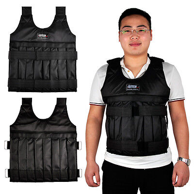 Adjustable Weighted Vest Fitness Weight Training Workout 1-20kg Jacket Empty