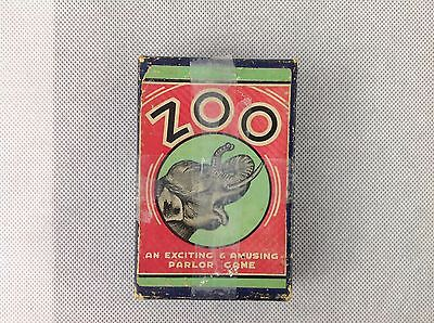 Vintage Card Game - Zoo - An Exciting & Amusing Parlor Game - inc Instructions