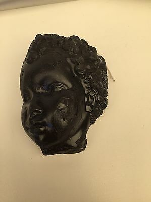 Vintage Wall Plaster Figure Of A Boy