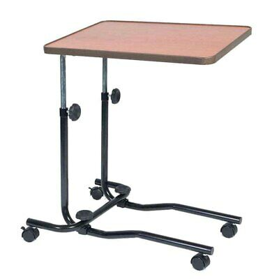 NRS Healthcare M15691 Portable Overbed/Chair Table - Tilting, Adjustable, Wheels