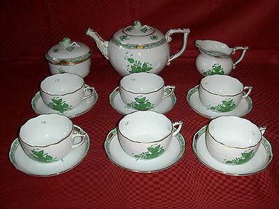 Herend Chinese Bouquet tea set for 6.
